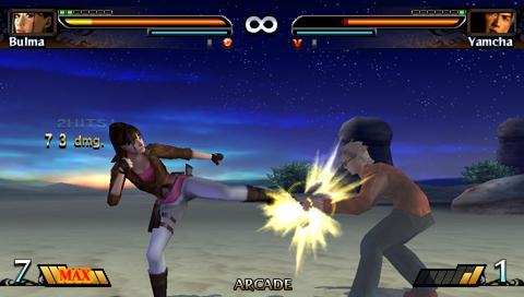 yamcha vs bulma dragon ball evolution juego psp