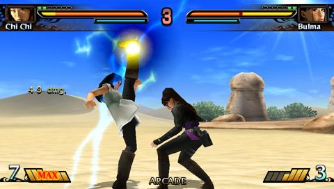 chichi milk vs bulma dragon ball evolution juego psp