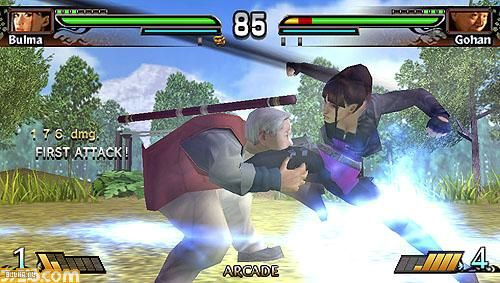 Bulma vs Gohan en juego de Dragon Ball Evolution