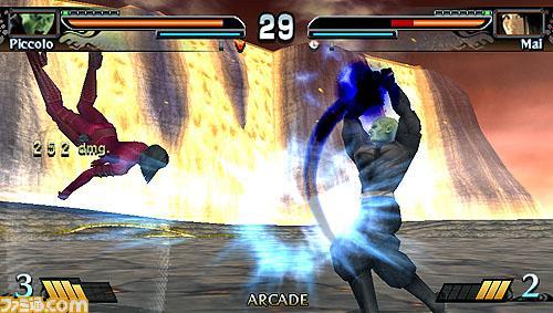Mai vs Piccolo en Videojuego de PSP